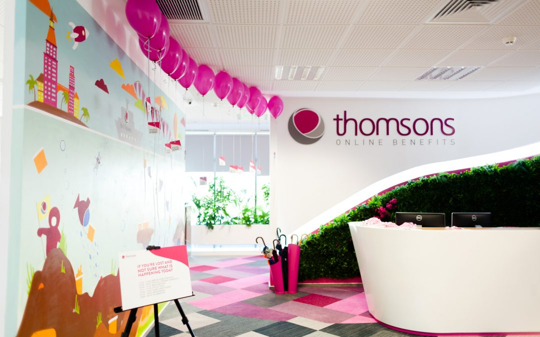 Welcome to our new pink home @ Thomsons Online Benefits