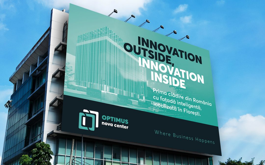 Poziționare, branding și comunicare pentru Optimus Nova Center, prima clădire de birouri clasa A din Florești